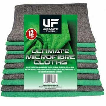 ULTIMATE FINISH MICROFIBRE CLOTH 12 PACK