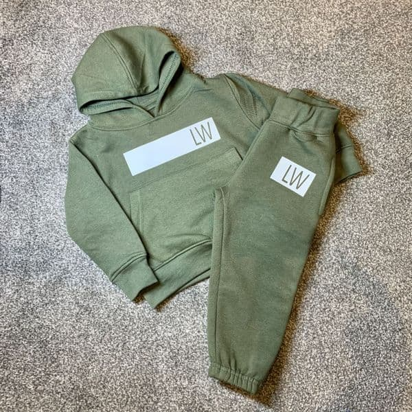 Personalised Block Initial Pullover Tracksuit Set (2 Piece)