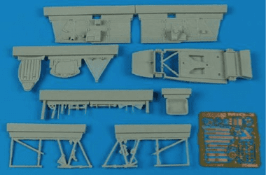 Aires 1/48 Resin MiG-3 Cockpit Set (for Trumpeter kit)