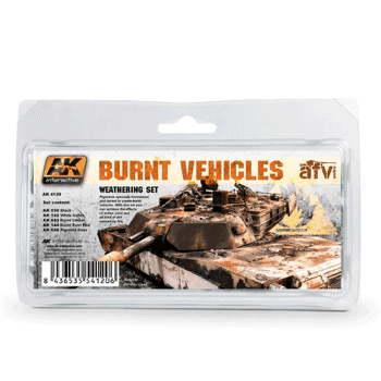 AK Interactive Burnt Vehicles Weathering Set