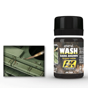 AK Interactive Dark Brown Wash for Green Vehicles