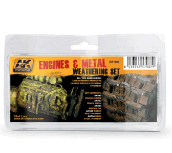 AK Interactive Engines & Metal Weathering Set