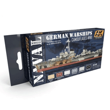 AK Interactive German Warships Camouflages WWII Paint Set
