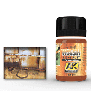 AK Interactive Light Rust Wash for Green Vehicles