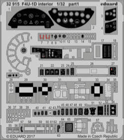 Eduard 1/32 F4U-1D Corsair Interior Photo Etch