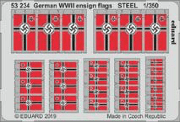 Eduard 1/350 German WWII Ensign Flags Steel