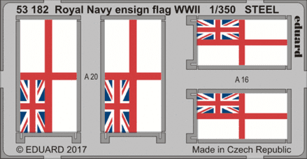 Eduard 1/350 Royal Navy Ensign Flag WWII Steel