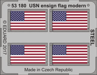 Eduard 1/350 USN Ensign Flags Modern Steel