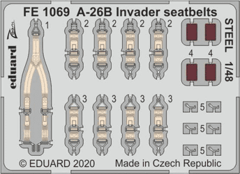 Eduard 1/48 A-26B Invader Seatbelts Steel (for ICM kit)