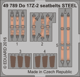 Eduard 1/48 Dornier Do 17Z-2 Seatbelts Steel (for ICM kit)