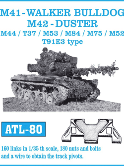 Friul Model 1/35 M41-Walker Bulldog, M42 Duster, M44, T37, M53, M84, M75, M52 T91ES Type Tracks