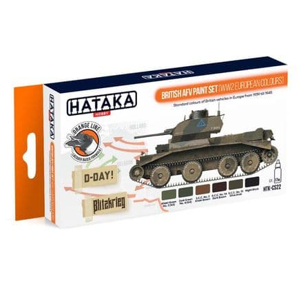 Hataka British AFV Paint Set WWII European Colours (Lacquer)