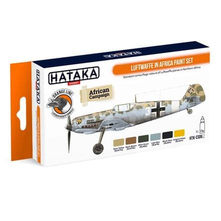Hataka Luftwaffe In Africa Paint Set (Lacquer)