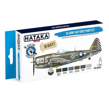 Hataka US Army Air Force Paint Set (Acrylic for Brush Painting)