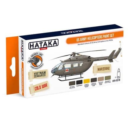Hataka US Army Helicopters Paint Set (Lacquer)