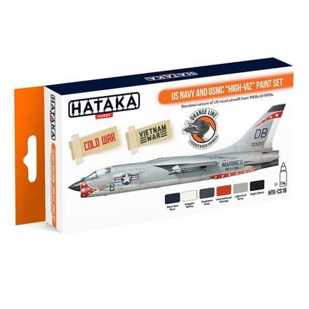 "Hataka US Navy & USMC ""High Viz"" Paint Set (Lacquer)"
