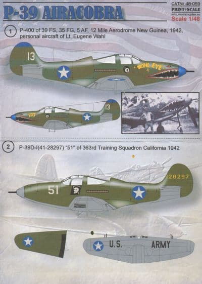 Print Scale 1/48 P-39 Airacobra Decals