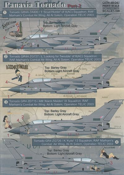 Print Scale 1/48 Panavia Tornado Part 2 Decals
