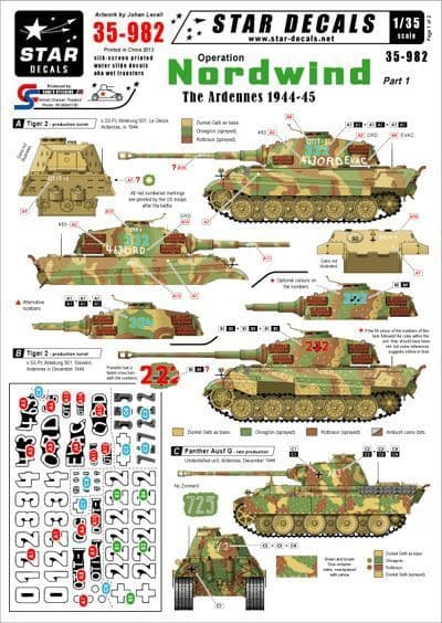 Star Decals 1/35 Operation Nordwind Part 1 Decals