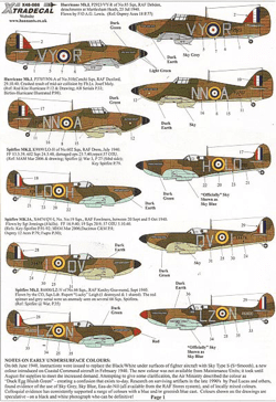 Xtradecal 1/48 RAF Battle of Britain Spitfires & Hurricanes Decals