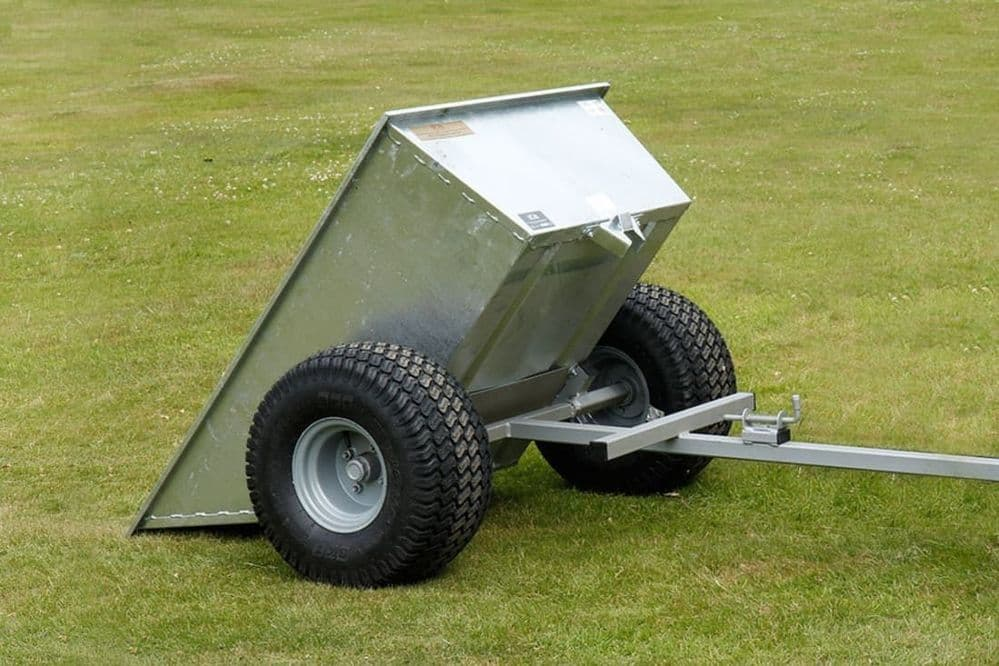 500kg Galvanised Tipping Dump Trailer with Flotation Wheels