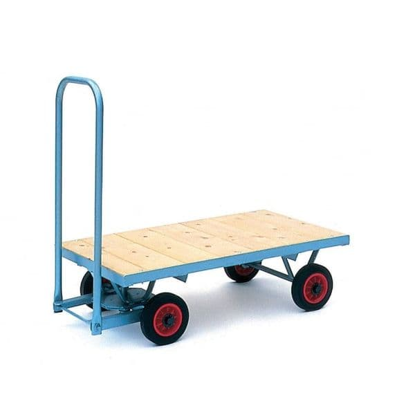 Medium Turntable Truck With Flat Deck & Puncture Proof Wheels