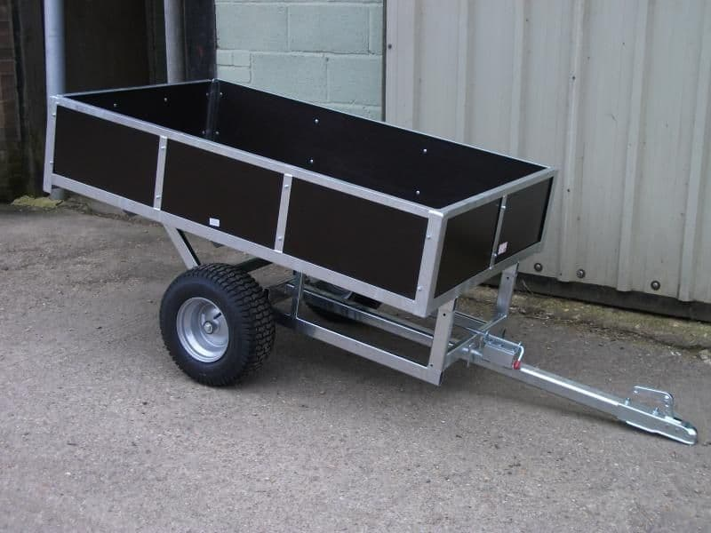 Quad / Mower Galvanised Trailer Heavy Duty & Boarded