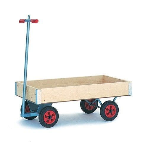 Small Turntable Trolley With Sides & Puncture Proof Wheels