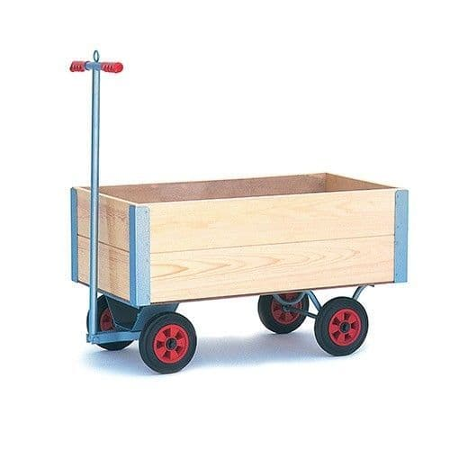 Small Turntable Trolley With High Fixed Sides & Puncture Proof Wheels