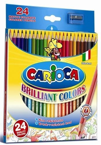 Carioca 24 x Colouring Pencils with Sharpener