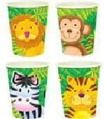 Jungle Animal Safari - Cups x 8