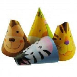 Jungle Animal Safari -  Hats x 8