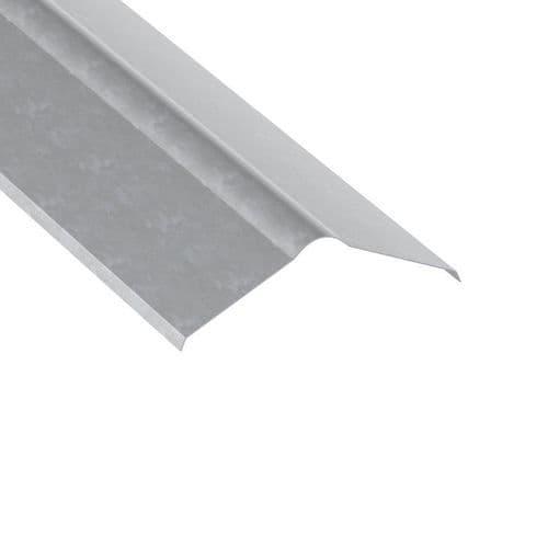 Galvanised Roll Top Ridge Flashing 3m Long