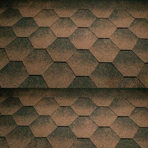Katepal Jazzy Hexagonal Bitumen Roof Shingles - 3m2 Pack