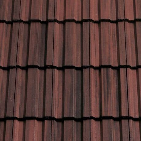 Sandtoft Concrete Standard Pattern Roof Tiles - 12 Rustic Red Smooth