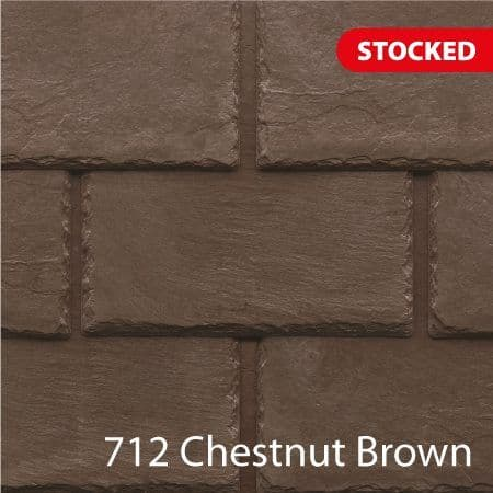Tapco  Classic Synthetic Slate Tile - Chestnut Brown (25 Pack)