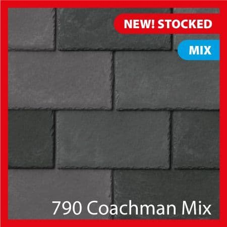Tapco  Classic Synthetic Slate Tile - Coachman Mix (25 Pack)