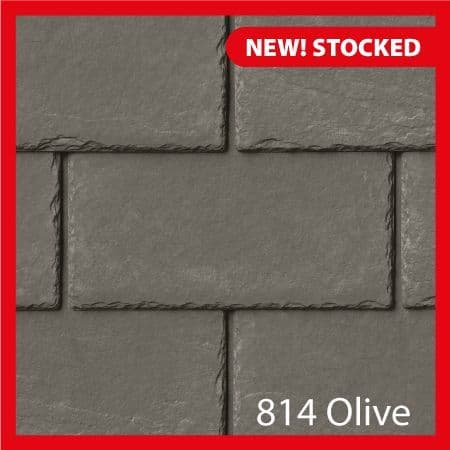 Tapco  Classic Synthetic Slate Tile - Olive Green (25 Pack)