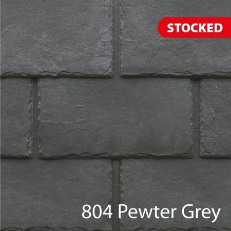Tapco  Classic Synthetic Slate Tile - Pewter Grey (25 Pack)