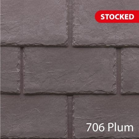 Tapco  Classic Synthetic Slate Tile - Plum (25 Pack)
