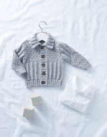 Baby Cardigal in Snuggly Soothing DK (5318)