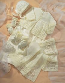 Baby Coat & Accessories In Snuggly 4 Ply Design No 1662