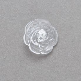Clear Rose Button Size 30  ( G7430)