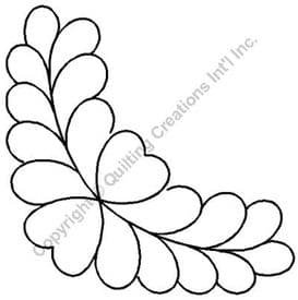 Feather Border Quilting Stencil Size: 8in x 4.5in or 20... (Code: QST577)