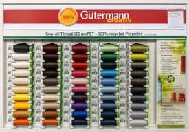 Gutermann Threads: Sew All rPet Spools (100m, 100% Recycled)