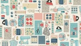 MAKOWER PATCHWORK FABRIC - STITCH IN TIME - 2134