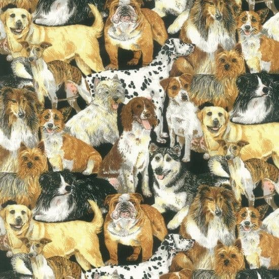 NUTEX PATCHWORK FABRIC - DOGGIE DELIGHT - 89640
