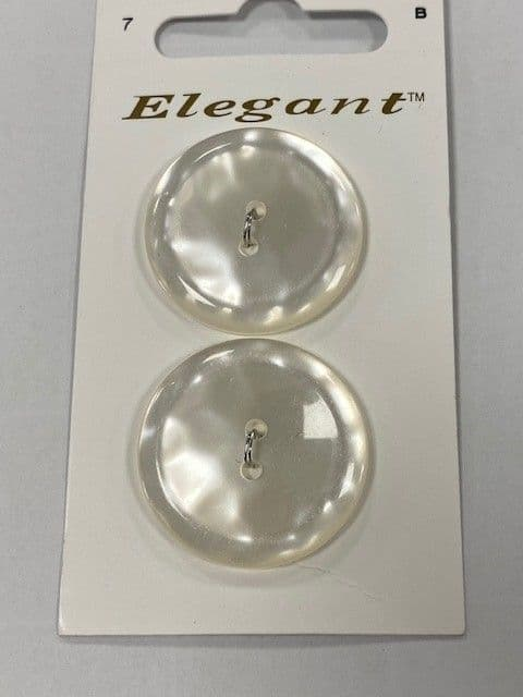 PEARLESCENT WHITE 22MM BUTTONS X 2