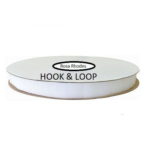 SEW ON HOOK & LOOP WHITE & BLACK