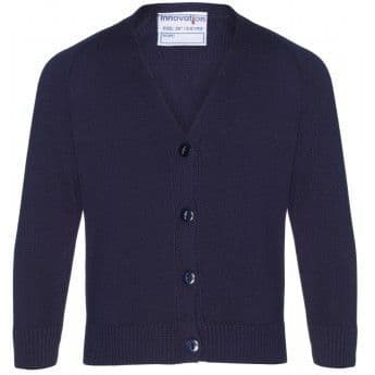 Cardigan with School Logo